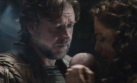 Man of Steel Trailer Images Jor El Russell Crowe and Lara with Baby Kal El 280x170 Man of Steel Trailer: The Epic Origin of Superman (Plus 48 Images)