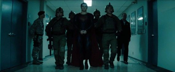 Man of Steel Trailer Images Superman in Handcuffs 570x237 Man of Steel Trailer Images   Superman in Handcuffs