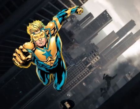 Man of Steel Trivia Blaze Comics Booster Gold Man of Steel Easter Eggs, Trivia & References