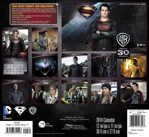 Man of Steel calendar back cover 570x522 Man of Steel calendar   back cover