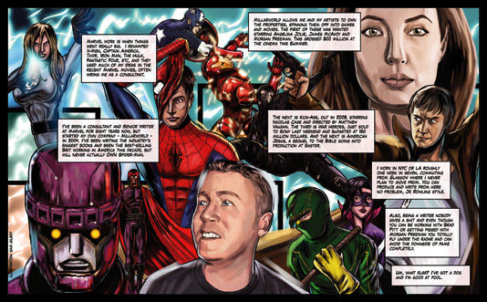 Mark Millar illustration Mark Millar Provides Details On His Directorial Debut