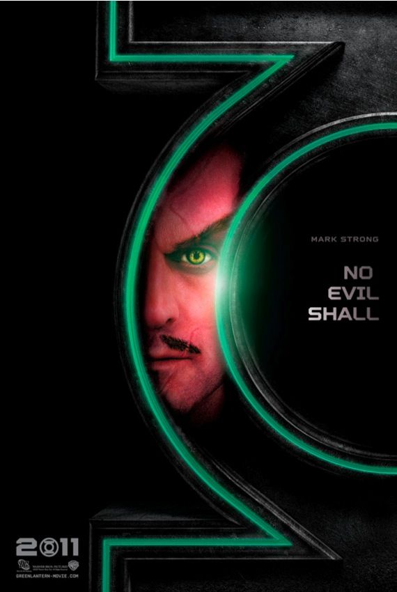 Mark Strong as Sinestro in the Green Lantern movie New Green Lantern Movie Posters