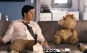 Mark Wahlberg and Seth MacFarlane in Ted 280x170 Ted Trailer & Images: Basically Family Guy with a Teddy Bear