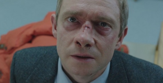 Martin Freeman in Fargo 570x293 Fargo TV Series Trailer with Martin Freeman and Billy Bob Thornton