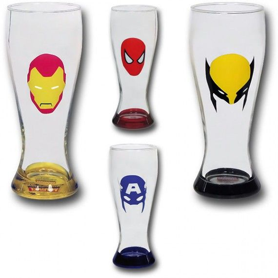 Marvel Minimal Mask Soda Glass Set 570x570 Marvel Minimal Mask Soda Glass Set