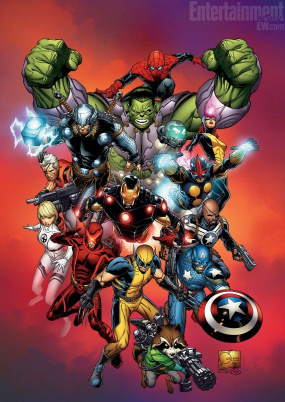 Marvel NOW Comic Con 2012 570x804 Marvel NOW! to Relaunch Marvel Comics Universe; X Men & Avengers to Merge