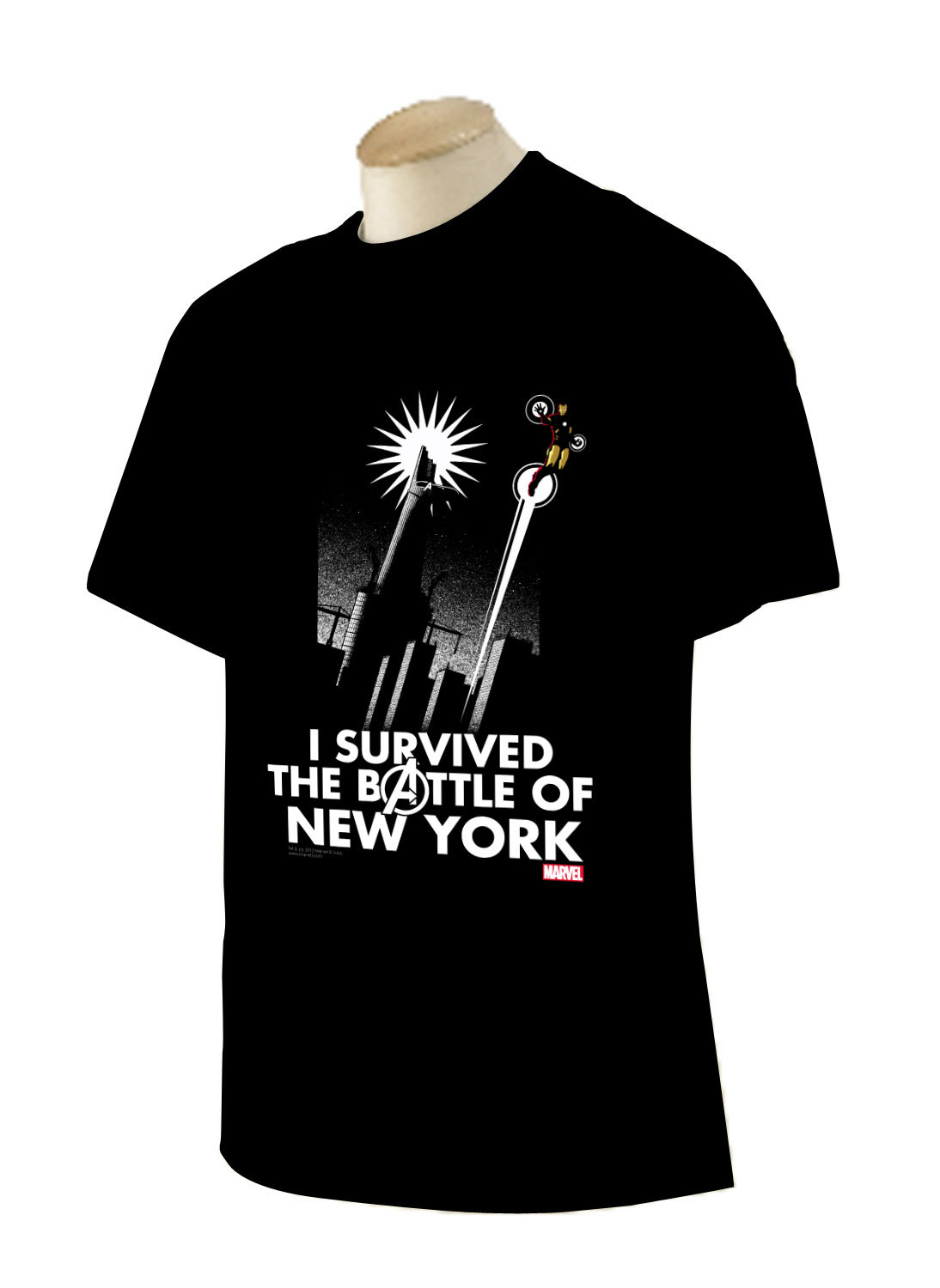 Marvel NYCC AvengersBattleofNewYorkShirt NYCC 2012: Limited Edition Avengers & Guardians of the Galaxy Collectibles