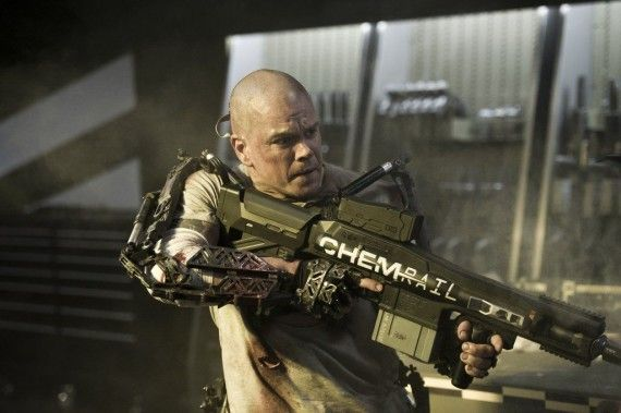Matt Damn as Max De Costa in Elysium 570x379 Matt Damn as Max De Costa in Elysium