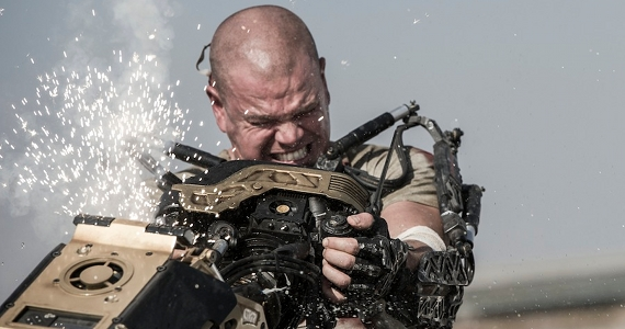 Matt Damon Battles Robot in Elysium Elysium Spoilers Discussion