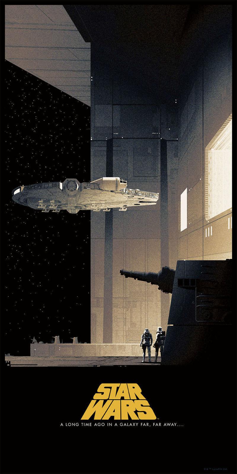 awesome star wars original trilogy art posters. Black Bedroom Furniture Sets. Home Design Ideas