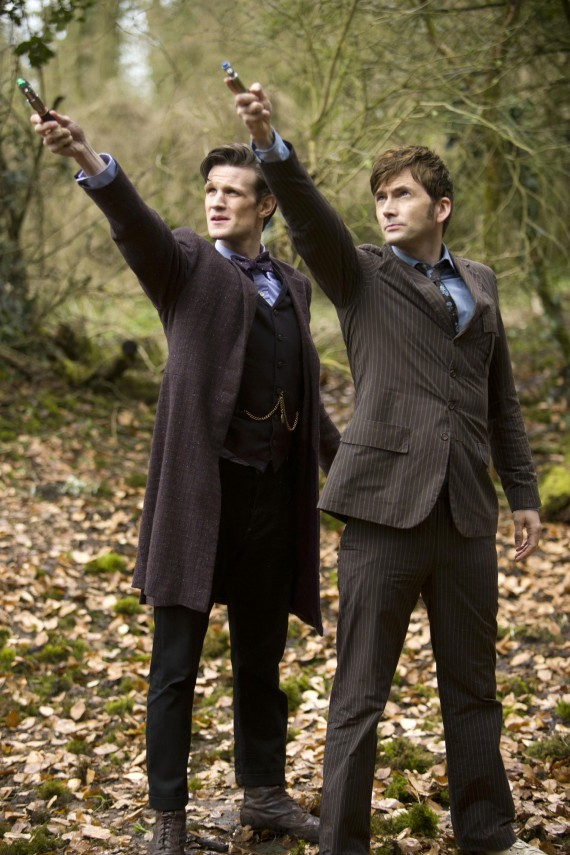 Matt Smith David Tennant Day of the Doctor Who Sonic Screwdrivers