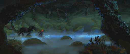 Merida in artwork for Pixar movie Brave Pixars Brave Concept Art Reveals A New Princess Fairy Tale