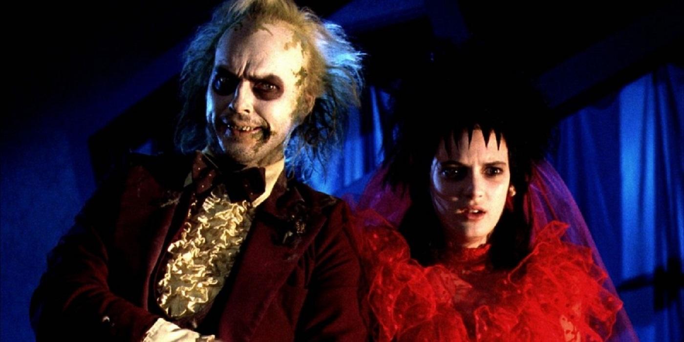 Michael Keaton and Winona Ryder in Beetlejuice Wedding