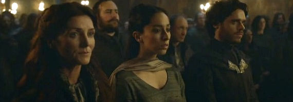 Michelle Fairley Oona Chaplin and Richard Madden in Game of Thrones The Rains of Castamere Game of Thrones Season 3 Rains of Castamere Review   Red Wedding [Spoilers]
