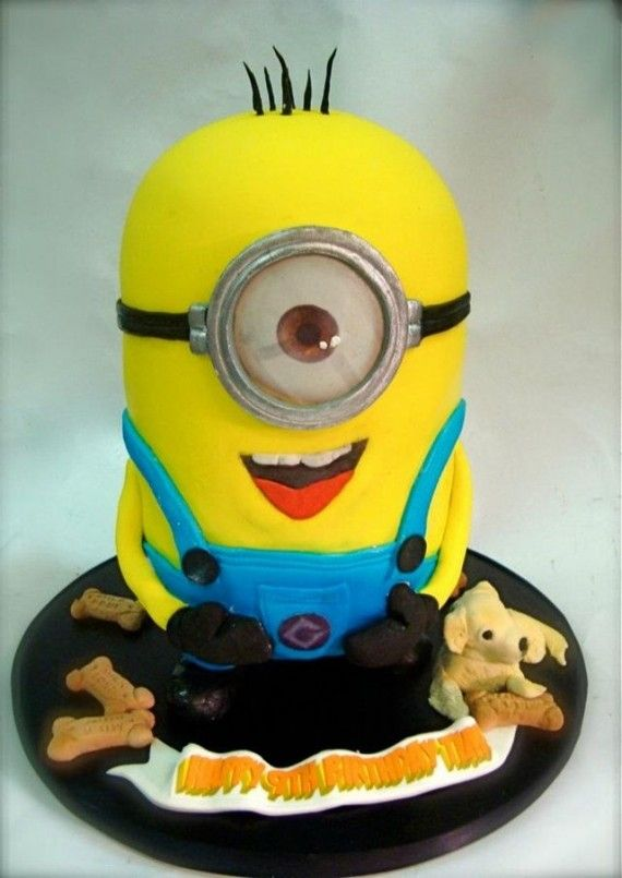 Minion Cake 570x805 SR Geek Picks: Bad Lip Reading New Moon, Deadpool & Boba Fett BFFs, Real Up House & More!