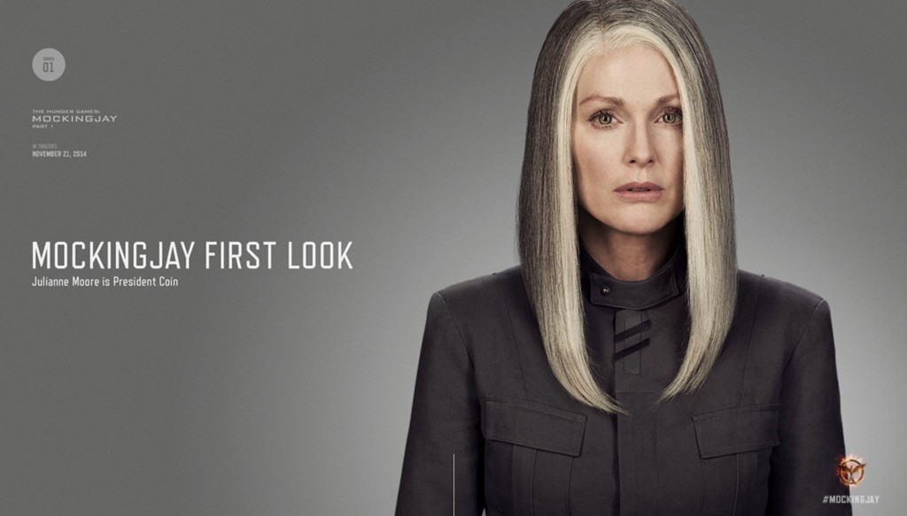 Mockingjay Part 1 Moore as President Coin 1024x583 Hunger Games: Mockingjay   Part 1: First Images, Digital Poster, and More