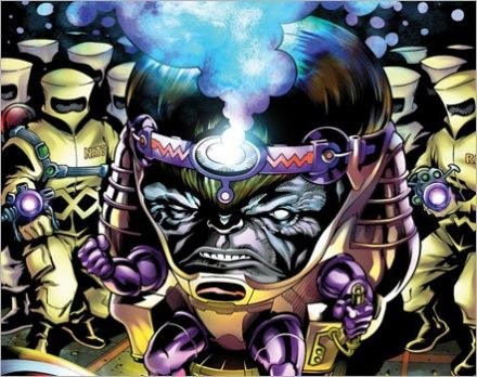 Modok and A.I.M.  Iron Man 3 Set Photos Reveal A.I.M (Advanced Idea Mechanics)