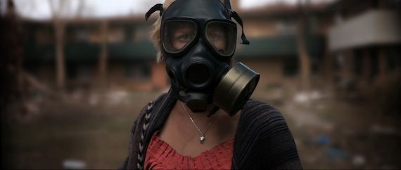 Monsters image gas mask New Monsters Clip & Interview With Director Gareth Edwards
