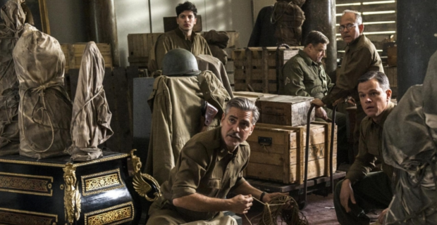 Monuments Men Clooney Damon Balaban Goodman George Clooneys The Monuments Men Delayed Until 2014
