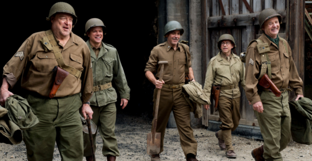 Monuments Men group George Clooneys The Monuments Men Delayed Until 2014