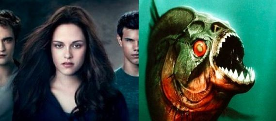 Movie Posters New Posters For Eclipse and Piranha 3D