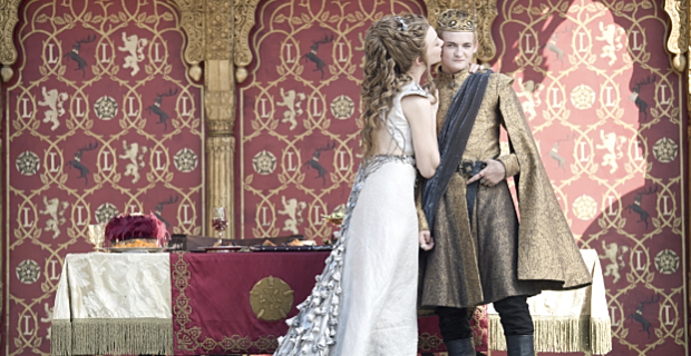 Natalie Dormer and Jack Gleeson in Game of Thrones Season 4 Episode 2 Game of Thrones: The Purple Wedding Welcomes Its Guests (SPOILERS)