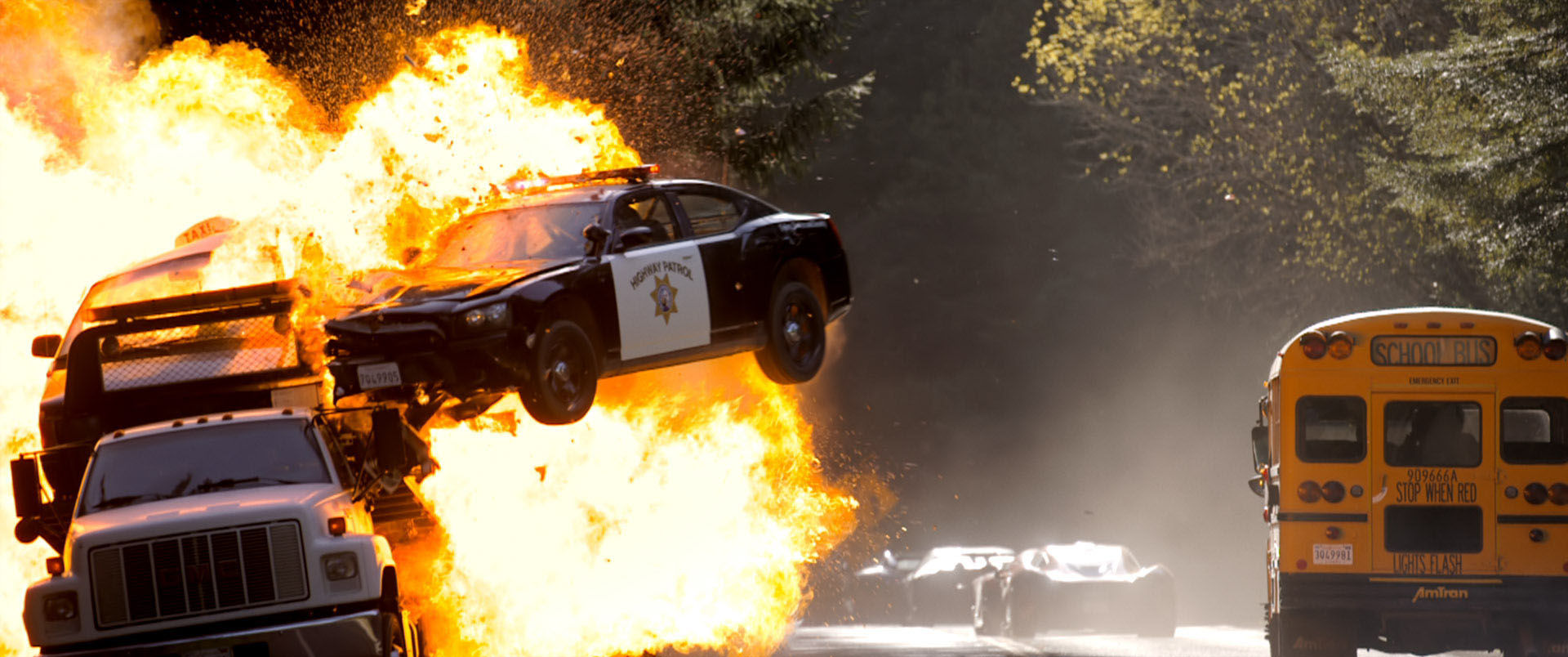 Need For Speed Movie Stunt Cop Cars Explosions NEED FOR SPEED Movie Stunt   Cop Car Explosions