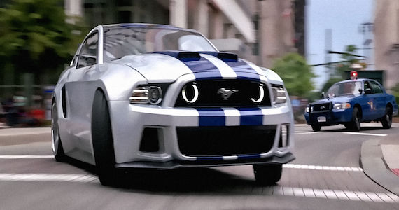 Need for Speed Mustang Car Chase 6 Movies Were Looking Forward To: March 2014