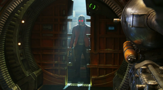 New Guardians of the Galaxy Picture Featuring Chris Pratt as Starlord 570x317 New Guardians of the Galaxy Image; Chris Pratt & James Gunn Talk Star Lord
