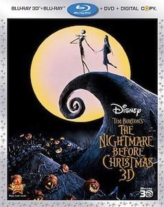 Nightmare Before Christmas 3D Blu ray3 DVD/Blu ray Breakdown: August 30, 2011