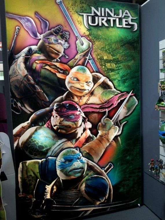 Ninja Turtles Movie Official Poster 570x760 Ninja Turtles Poster Gives Us Clearest Look Yet at the Characters