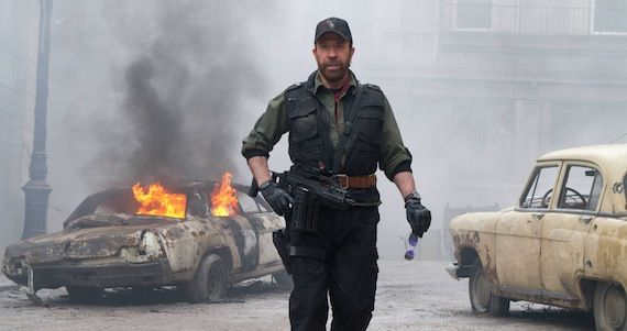 No Expendables 3 for Chuck Norris No Expendables 3 for Chuck Norris; Expendables 2 Clip: Stallone vs. Van Damme