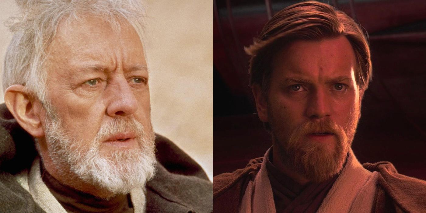 Alec Guinness & Ewan McGregor as Obi-Wan Kenobi