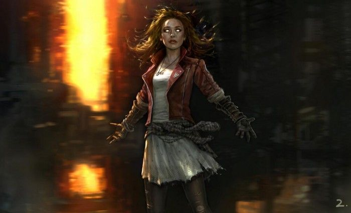 Official Scarlet Witch Concept Art The Avengers 2 Age of Ultron 700x425 First Look At Quicksilver, Scarlet Witch & Hulkbuster Designs in The Avengers 2