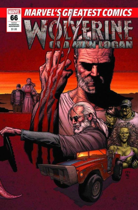Old Man Logan Marvel Comics Cover 570x866 Old Man Logan Marvel Comics Cover