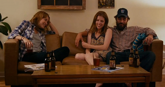 Olivia Wilde Anna Kendrick and Jake Johnson in Drinking Buddies Drinking Buddies Review