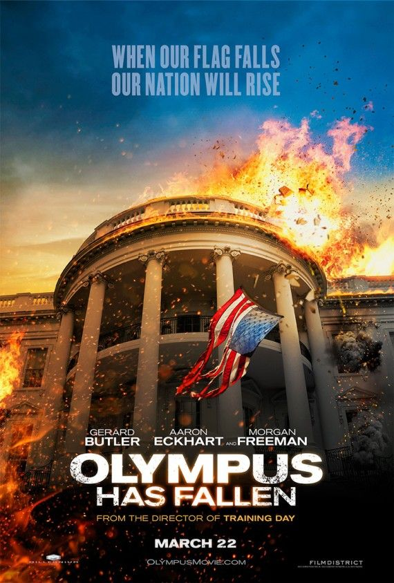 Olympus Has Fallen Poster Official 570x844 Olympus Has Fallen Poster Official