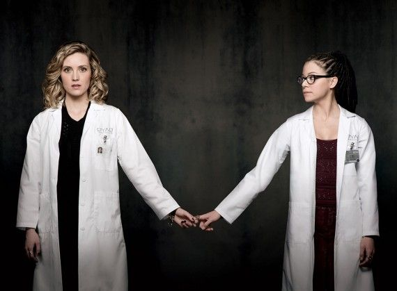 Orphan Black season 2 character image Delphine and Cosima 570x419 Orphan Black Season 2: Alliances Form in New Character Promo Images