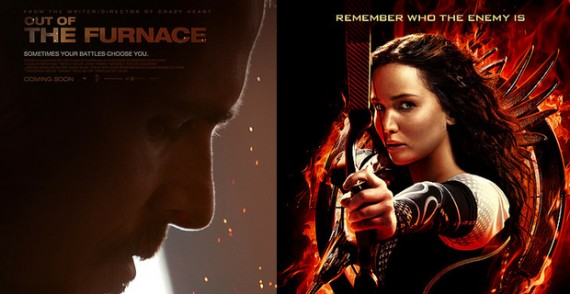 Out of the Furnace vs. Catching Fire 570x294 Box Office Prediction: Out of the Furnace vs. Hunger Games: Catching Fire