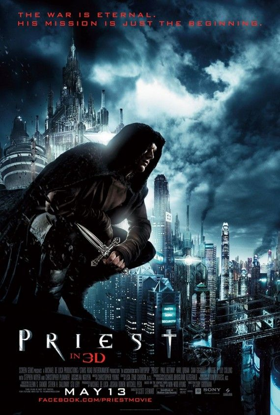 PRIEST POSTER 570x844 Movie Poster Roundup: Scream 4, Priest, Dylan Dog & More