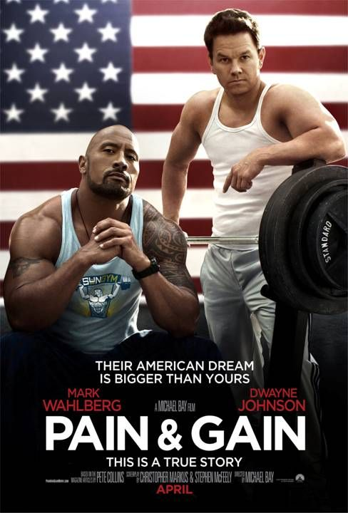 Pain and Gain Poster Pain & Gain Trailer: Michael Bays New Bodybuilder Action Comedy