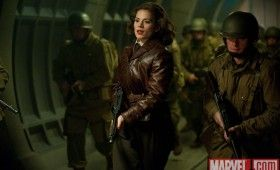 Peggy Carter Hayley Atwell in Captain America 280x170 Official Thor and Captain America Movie Images