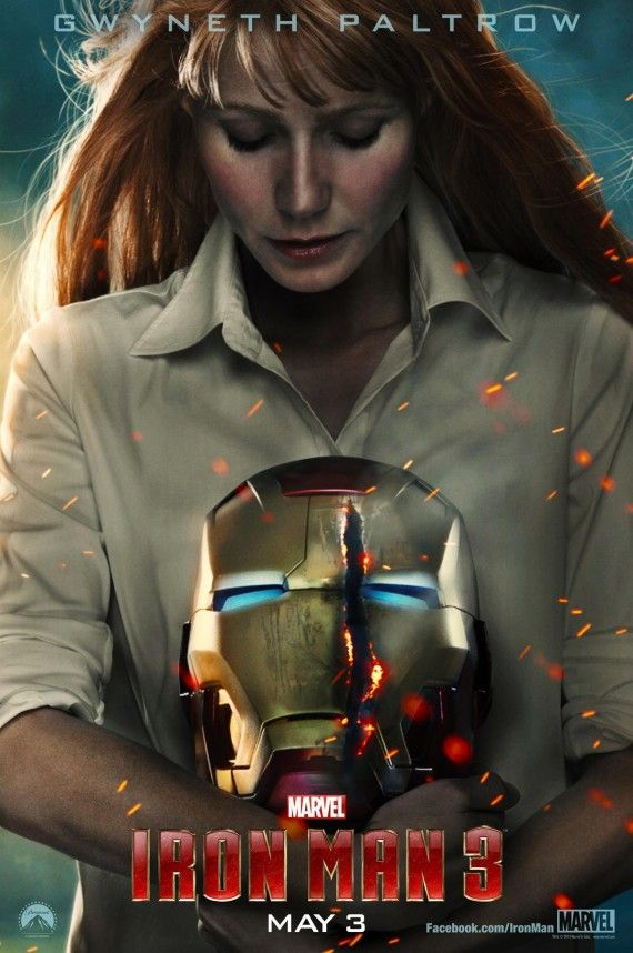 Pepper Potts Gwyneth Paltrow Iron Man 3 Poster 570x858 Pepper Potts (Gwyneth Paltrow) Iron Man 3 Poster