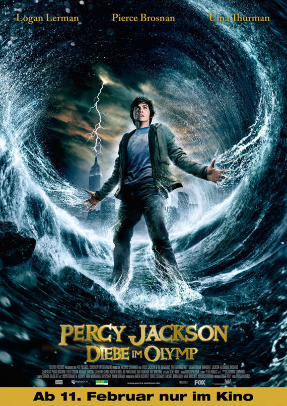Percy Jackon lightning thief German Poster Poster Friday: Clash of the Titans, Iron Man 2 & More!
