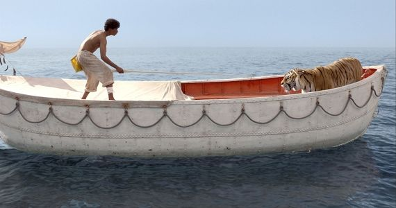 Pi vs. Richard Parker in Life of Pi Life of Pi Review