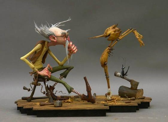Pinocchio conceptual artwork Guillermo del Toro Working On Darker Version Of Pinocchio