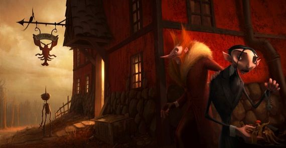 Pinocchio movie conceptual artwork Guillermo del Toro Working On Darker Version Of Pinocchio