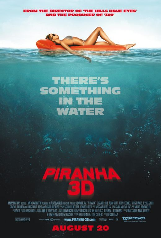 Piranha 3D poster Poster Friday: Resident Evil 4, Piranha 3D, Saw 3D & More!