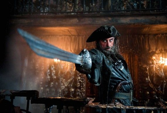 Pirates of the Caribbean 4 Blackbeard 570x384 Movie Image Roundup: Green Lantern, Three Musketeers, Cars 2 and More [Updated]