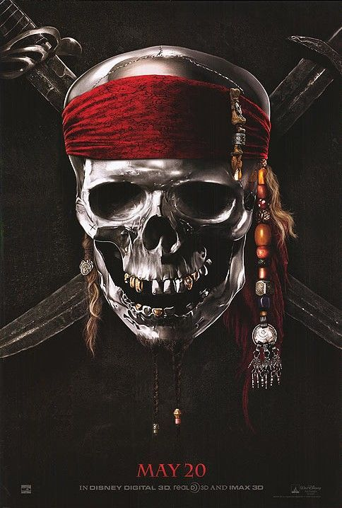 Pirates of the Caribbean On Stranger Tides teaser poster Movie Media Roundup: Pirates of the Caribbean 4, Scream 4 & Tangled